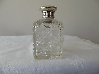 Fabulous Victorian Silver Topped Perfume Bottle , London 1860.  Top Quality!!