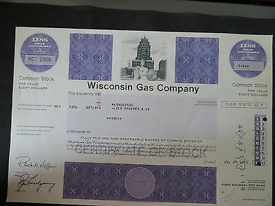 Wisconsin Gas Company - 1 Shares