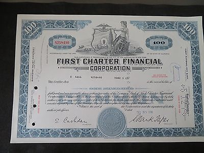 First Charter Financial Corporation - 1968