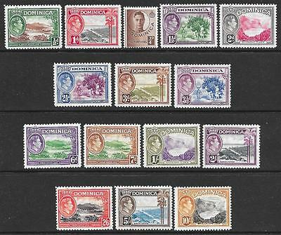 Dominica 1938-47 Set to 10/- (Mint)