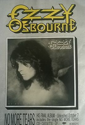 Music Press Advert  For  The Ozzy Osbourne Album 'no More Tears'