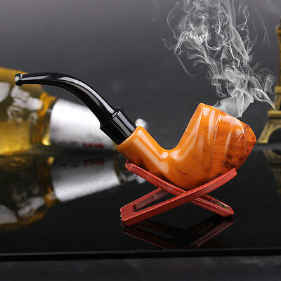 Wooden Enchase Smoking Pipe Tobacco Cigarettes Cigar Pipes Gift Durable