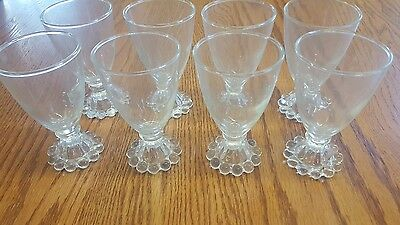 Antique Rare Early Set Of 8 Small Cordial Wine Glasses.