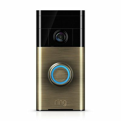 Ring Wi-Fi Enabled Video Doorbell Video Camera W/ Microphone - Antique Brass