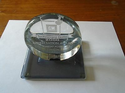 General Motors Technicians Guild 2000 Appreciation Award Trophy