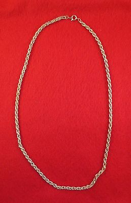 """Lot Of 5 Pcs 14Kt Yellow Gold Ep 17"""" 3.5Mm Flexible Rope Necklace Chain"""