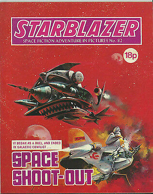 Space Shoot-Out,starblazer Space Fiction Adventure In Pictures,no.82,1982