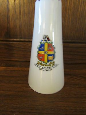 Crested China~Arms of Yorkshire~Crest Vase 9.7cms tall. Swan China.