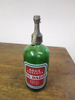 Antique Old Mexican Seltzer Glass Bottle-Unique-Bottled by 7up Company-RARE