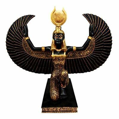 "Atlantic Collectibles Large Kneeling Winged Isis Statue 20""Long Egyptian Goddess"