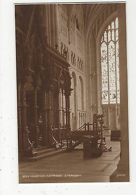 Hereford Cathedral, S. Transept Judges 3559 Postcard, A992