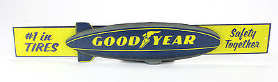 Vintage Style GOOD YEAR TIRES Blimp 3 Dimensional Wall Sign