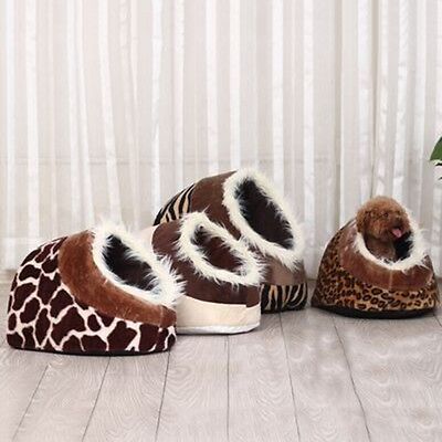 Warm Fleece Pet Cat Dog Bed with Fur Trim For Dog Puppy Cat Kitten New Hot