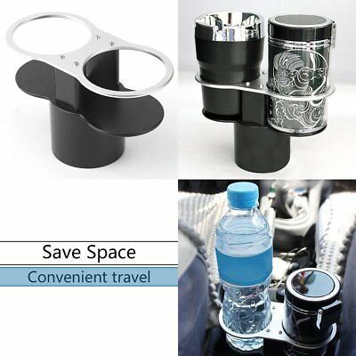 ABS Universal Car Auto Van Double Cup Bottle Supporter Holder Excellent HT