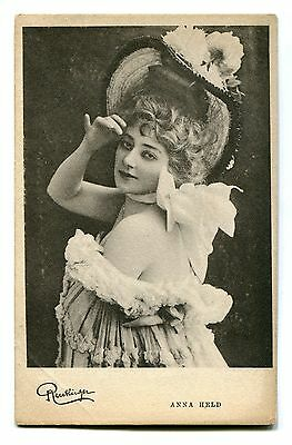 CPA photo RPPC Edwardian actress Anna Held Reutlinger