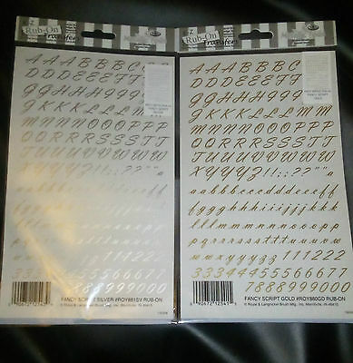 Rub On Letter Transfers (2 Sheets)