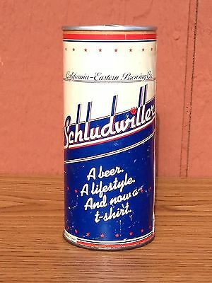 Vintage Schludwiller Beer T-Shirt in a Can California Eastern Brewing Unopened