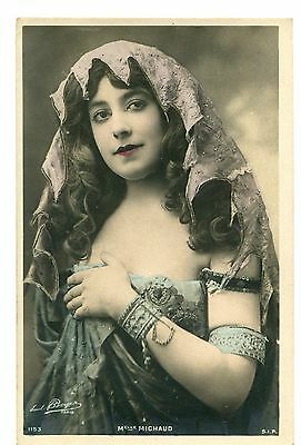 CPA photo RPPC Edwardian actress Mademoiselle Michaud SIP 1153 Reutlinger