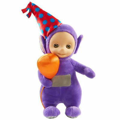 Teletubbies Talking Party Tinky Winky Plush Soft Toy - Purple