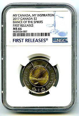 2017 Canada $2 Toonie Ngc Ms66 Dance Of Spirits My Inspiration First Releases