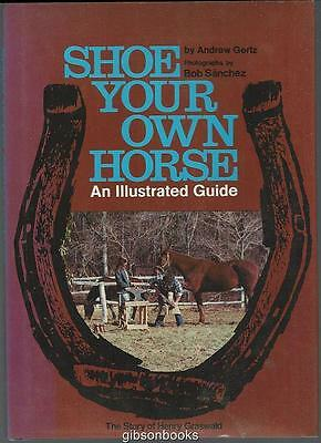 Shoe Your Own Horse an Illustrated Guide by Andrew Gertz 1976 Illustrated