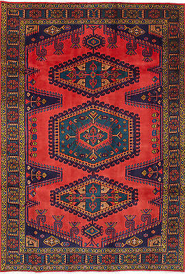 "Hand-knotted Persian Carpet 6'11"" x 10'2"" Wiss Wool Rug...DISCOUNTED!"