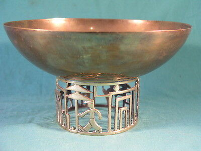 Vintage Hagenauer Art Deco Brass Bowl With Golfing Base