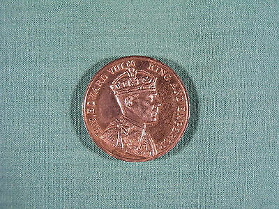 H M King Edward VIII King and Emperor 1937 Westminster Abbey Coronation Coin
