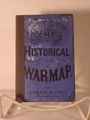 1863 Asher Historical War Map - Rare Mid-War Pocket Map