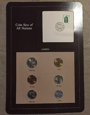 Six Coin Set Uncirculated JAPAN Coins Of All Nations