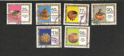 1993 Zimbabwe SC #686-91 COOKING VESSELS Tsaya Pfuko Mbiya Gate used stamps