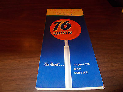 1966 Union 76 San Francisco East Bay Cities Vintage Road Map