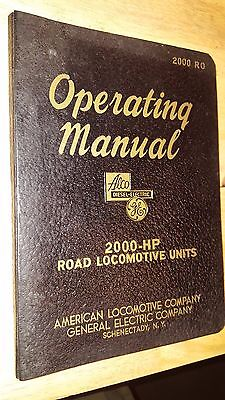 Operating Manual 2000 HP Road Locomotive Units - Alco GE 1948 2nd Edition, RR