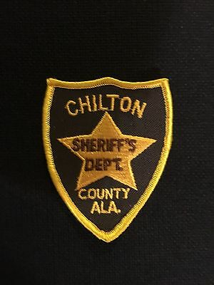 Chilton County  Alabama  Sheriff  Shoulder Patch    Used