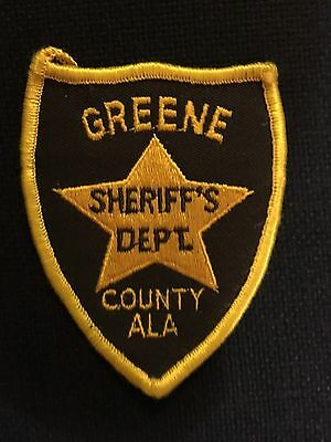 Greene  County  Alabama  Sheriff  Shoulder Patch    Used