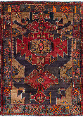 "Hand-knotted Persian Carpet 4'2"" x 6'3"" Zanjan Wool Rug...DISCOUNTED!"