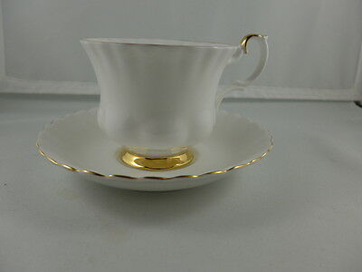Vintage Royal Albert China  Footed  Cup and Saucer  VAL DOR'