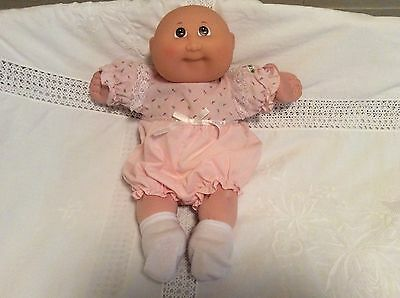 """Cabbage Patch Baby Doll 25th Anniversary Preemie Bald Baby Brown Eyes 14"""""""
