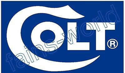 COLT FIREARMS FLAG BANNER POSTER SIGN - 3' X 5' colts blue nra