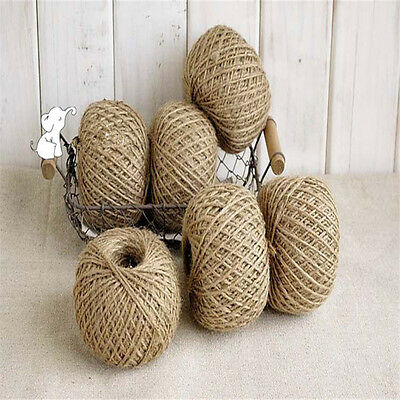 Craft Rope Natural Burlap Linen Cord String Jute Twine Hemp 30M 2mm Twisted