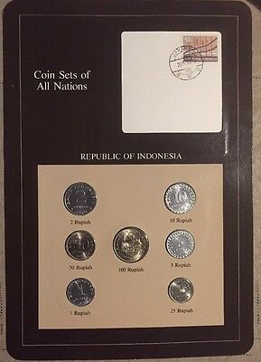 Seven Coin Set 1970-1979 Uncirculated INDONESIA Coins Of All Nations