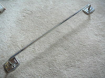 "AUTOYRE FAIRFIELD Vintage 1950s CHROME MID CENTURY MODERN DECO 24"" TOWEL BARB"