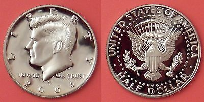 Proof 2004S US Kennedy 50 Cents From Mint's Set