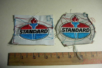 Standard Oil Lot Of 2 Old Vintage Embroidered Patches