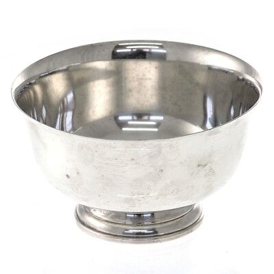 American Sterling Silver Bowl After Paul Revere By Fina