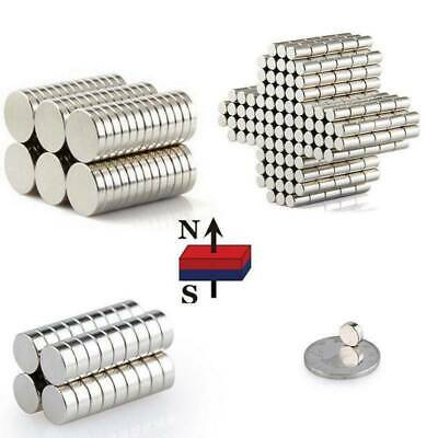 1/50/100x Super Strong Round Disc Cylinder N50 Magnet Rare Earth Neodymium Tool