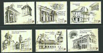 Singapore Sg1929/34 2010 National Monuments Mnh