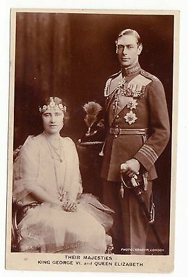 Royalty Their Majesties King George VI and Queen Elizabeth (RPPC) 1930's