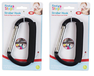 Stroller Hook Buggy Clip Pushchair Shopping Bag Holder Baby Pram - Pack of 2