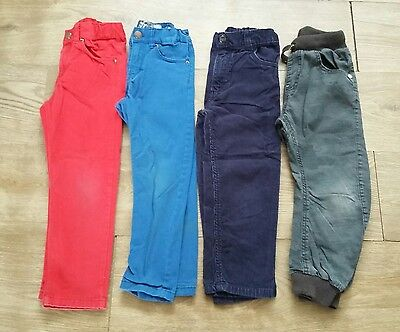 Boys Jeans & Trousers Bundle 4 - 5 years - H&M Red & Blue Chinos, Cords PLAYWEAR